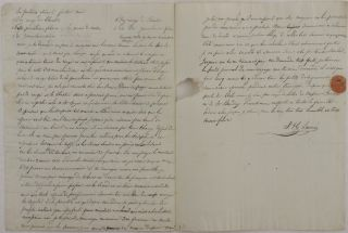 "[Autograph Letter in French from a Young French Cotton Merchant in Rio de Janeiro to his Father, Signed ""J.H. Laine,"" with the latest News about the Brazilian Market]."