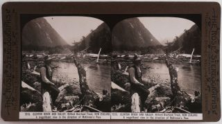 [Collection of Thirty-Six Original Albumen Stereoviews Showing New Zealand Landscapes, Titled:] Souvenir of the New Zealand International Exhibition / Gems of New Zealand Scenery / The Kapai Series.