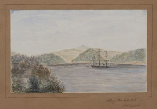 [Album of Eight Original Watercolours and Ten Ink Drawings of Queensland, Australia, and Norfolk Island, showing Somerset Station, Albany Pass, Rockhampton, Mantuan Downs, Lansdowne Homestead on the Ward River, the Pitcairn Islanders' Settlement in Kingston etc.]