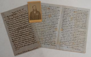 "Two Historically Important Expedition Autograph Letters Signed ""Yours Most Truely Dr. Barth"" from"
