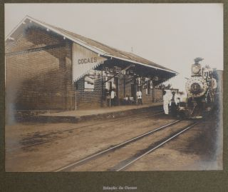 Album with Thirty-Nine Large Original Gelatin Silver Photographs of Stations, Bridges and Trains...