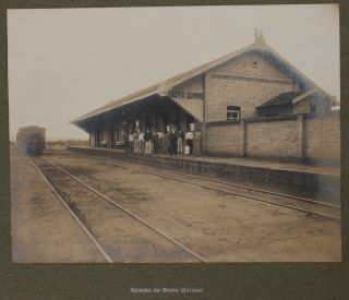 [Album with Thirty-Nine Large Original Gelatin Silver Photographs of Stations, Bridges and Trains of Companhia Mogiana de Estradas de Ferro, Sao Paulo State].