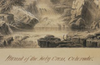 [Sepia Watercolour and Ink Painting:] Mount of the Holy Cross, Colorado - Drawn from Nature by J. Dynes. Quebec V.C. [Canada].