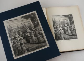 """[Collection of Nine Original Drawings by Wilhelm and Ismael Gentz, Leopold Mueller, and Charles Welsch, Used as Prototypes for Illustrations in Georg Ebers' Encyclopaedic Work """"Aegypten in Bild und Wort (Stuttgart & Leipzig 1879-80);"""" [Egypt: Descriptive, Historical, and Picturesque] [With]: Complete Sets of both the First German and the First English Editions of the Book]."""