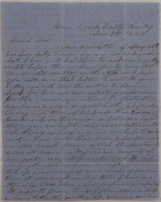 Autograph Letter Signed by California Gold Miner and Future Pioneer of Seattle, Timothy
