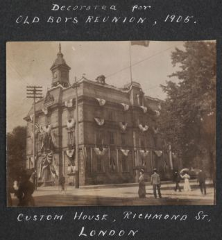 """[Album of 53 Original Gelatin Silver Photographs of London, Ontario, Premises of the """"McPherson Fruit Company,"""" and including a Portrait of its General Manager and Future Owner R.R. Scott]."""