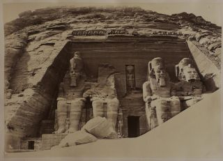 Album with Twenty-One Original Albumen Photos of the Ancient Temples of Egypt (Djoser Pyramid in...