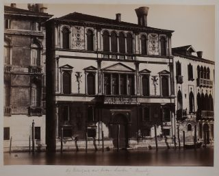 Large Attractive Collection of 78 Early Albumen Studio Photographs of Italian Cities, Showing the...