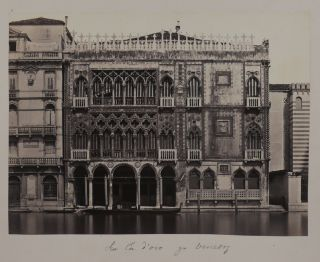 [Large Attractive Collection of 78 Early Albumen Studio Photographs of Italian Cities, Showing the Main Sites, Streets and Architectural Details of Venice, Rome, Pompeii, Palermo, Genoa, Pisa, Turin, etc.]