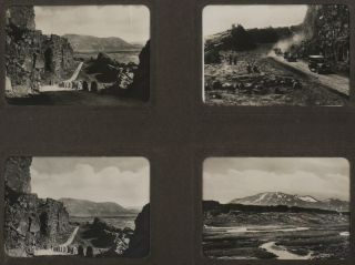 [Interesting Album with 53 Original Gelatin Silver Photographs of Iceland, Showing Natural Sites, Kaldadal Highland Road, Bridges, and Smaller Communities around the Island].