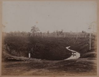 [Album with Fifty-two Large Rare Albumen Photographs Including Forty-four of the Tea Plantations, British Planters, Native People and Historical Sites of Assam; With Six Large Studio Photos of Ceylon and Two Photos of New Zealand].