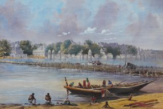 [Original Watercolour View of Benares (Varanasi)].