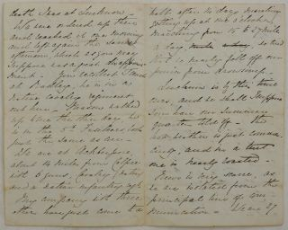 "[Original Autograph Letter Written in Akbarpur by a British Officer during the Indian Mutiny, Mentioning the Capture of Lucknow, Death of Captain William Thunne, the Troops' Movement, ""Calpee Force,"" the Beginning of the Hot Season, Plans to Hunt and Take Part in a Steeplechase, etc.]"