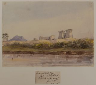 Rare Collection of Twenty-Seven Early Original Watercolour Views of the Nile, Taken During a...