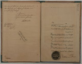 "An Office Folder with a Formal Autographed Letter Signed ""Northbrook,"" Written in Fine Palace..."