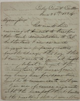 Historically Significant Rare Autograph Letter Written in the Besieged Cape Coast Castle during...