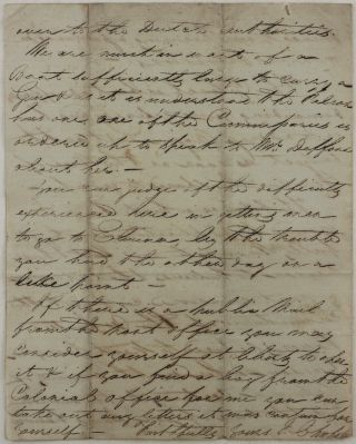 [Historically Significant Rare Autograph Letter Written in the Besieged Cape Coast Castle during the First Ashanti War (1824-31) and Addressed to William Williams, the Secretary of the British Gold Coast Colony, with the Notes about the Burning of Cape Coast Town, Williams' Imprisonment by the Ashantis, Deputy Colonial Governor Lieut.-Col. Sutherland, the Head of the Dutch-Controlled Elmina Fort Major Last, etc.]