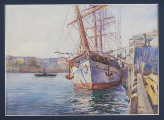 "SYDNEY HARBOUR: Watercolour Signed with Initials and Dated ""W.A. 98"" (lower right)]. PACIFIC -..."