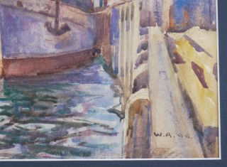 """[SYDNEY HARBOUR: Watercolour Signed with Initials and Dated """"W.A. 98"""" (lower right)]."""