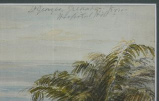 "[Two Watercolour Panoramas each on four Joined Sheets Titled: ""St. Georges, Grenada from Hospital Hill,"" & ""View of the Harbour, St. Georges, Grenada, from Belmont Hill."" Dated on verso 1852.]"