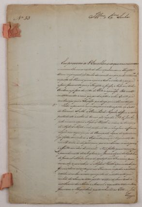 Manuscript Report by a Notable Portuguese Diplomat, Reporting on Napoleon's 1800 Campaign in...