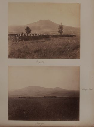 "[Album with Sixty-one Original Albumen Photographs, the Majority of Which are of South Africa Showing Detailed Views of Kimberley and De Beers Diamond Mines, Johannesburg Gold Mine, Sites and Memorials of the Anglo-Zulu and First Boer Wars, Views of Pietermaritzburg, Georgetown, Durban, Newcastle; Ethnographic Photos of Zulus and ""Kaffirs""; With: Photos of Zanzibar (6), Lamu in Kenya (6), Aden (4) and Egypt (8)]."