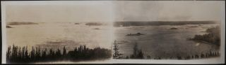 "[Album with over 160 Original Gelatin Silver Photographs of the Great Slave Lake and the Nearby Rivers, Showing Early Gold and Metal Prospecting (most likely by Cominco Employees), Hudson's Bay Company Steamers ""Athabasca River"" and ""Distributor,"" RCMP Boat ""Resolution,"" ""Speed II"" Schooner, Fort Resolution, Fokker Planes G-CASM, and G-CASQ and Their Pilots, First Nations People; Also Dams, Coal Pits and Industrial Objects (apparently in Alberta), Titled:] 1929. Prospecting. Great Slave Lake."