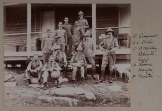 Album of 58 Original Gelatin Silver Photographs Showing Commanding Officers and Troops of the...
