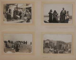 [Album with 96 Original Gelatin Silver Photographs Showing Two French Female Travellers during Their Cruise up the Nile to the First Cataract, and Including a Side Trip to Palestine and Syria].