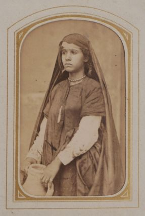 Album of Thirty-nine Early Original Carte-de-visite Albumen Photograph Portraits of Egyptian...
