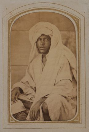 [Album of Thirty-nine Early Original Carte-de-visite Albumen Photograph Portraits of Egyptian People, Views of Cairo, the Great Pyramid of Giza, the Pompey's Pillar in Alexandria, and others].