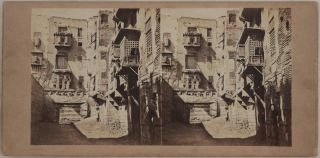 Collection of Twenty Early Original Albumen Stereoview Photographs of Egypt, Showing Cairo,...