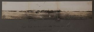 "[Album with 56 Original Gelatin Silver Photographs Taken by a Passenger of the SS ""City of Cairo"", Showing Nubian and Sudanese Cities and Villages along the White Nile, from Ibrim to Kosti, Including Khartoum, Omdurman, Wad-Alzaky, Ad Douiem and Others; Several Views of the Blue Nile, and a Three-Part Panorama of Port Said]."