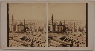 Collection of Sixty-nine Early Original Albumen Stereoview Photographs of Egypt, Showing...