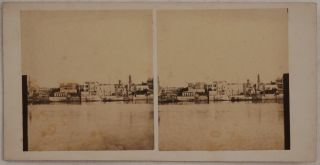 [Collection of Sixty-nine Early Original Albumen Stereoview Photographs of Egypt, Showing Alexandria Waterworks and Kom Ad Dikah Neighbourhood, Almost Certainly Taken by European Associates of the Waterworks and Their Servants, Views of Cairo, and Ancient Egyptian Temples and Sites along the Nile].