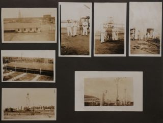 [Album with 197 Original Gelatin Silver Photographs and Real Photo Postcards of Caracas and Lake Maracaibo Oil Fields, Showing Venezuelan Oil Concessions' Facilities at La Rosa/Cabimas Oil Field, Portraits of the Workers, Views of the Towns and Cities of Cabimas, Maracaibo, Caracas, Puerto Cabello, Portraits of Indigenous People, etc.]