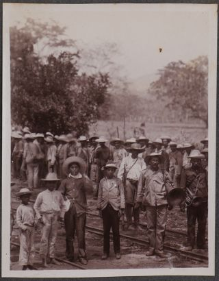 Album with over 160 Original Gelatin Silver Photographs of Honduras Railroad, Cities and People,...