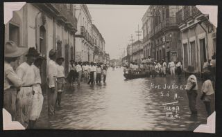[Album with 36 Original Gelatin Silver Photographs Showing the Flooded Streets of Villahermosa, Tabasco].