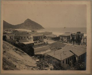 """[Album with 40 Rare Large Original Gelatin Silver Photographs of """"Belle Époque"""" Rio de Janeiro Showing the Results of Its Reconstruction during the Mayoral Term of Francisco Pereira Passos]."""