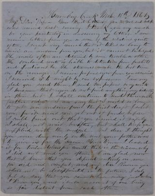 Autograph Letter Signed to His Wife Rowena, Talking About His Gold Mining at the Humbug Creek...