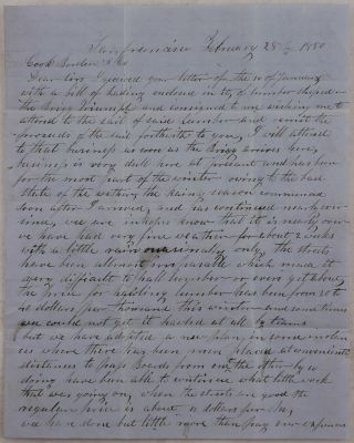 "Autograph Letter Signed by an Associate of the Massachussets-Based Lumber Enterprise ""Cook..."