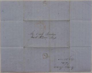 "[Autograph Letter Signed by an Associate of the Massachussets-Based Lumber Enterprise ""Cook Borden & Co."" and Written in San Francisco on the Third Year of the California Gold Rush, with Interesting Notes on Gold Mining, San Francisco Lumber Business, Cheese Supplies, Population, Dwellings, Streets &c.]"