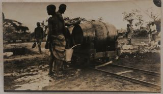 [Historically Significant Collection of over 200 Original Gelatin Silver Photographs, Including 112 Photos and Real Photo Postcards Taken by the Founder of the Afro-American Trading & Navigation Company's Sisal Rope Factory in Voi, British East Africa, and Showing the Factory's Construction and Operation, Auxiliary Railway and Trolley Tracks, Steam Engines, Native Workers which Included Teenagers and Children, Sisal Plantation, Sagalla Mission Station and its Head Rev. Wray, etc.; [Also Including] over Eighty Family Photos and Real Photo Postcards of Pape, His Wife & Baby Son, Mostly Taken in Kenya].