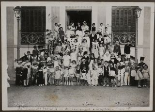 """[Historically Interesting Album with 40 Original Gelatin Silver and Platinum Photos of French Guinea, Showing Conakry, Samou River Rapids and Waterfalls, the """"Baptism"""" of a Morane Plane of Conakry """"Aero-club,"""" Children's Costume Party in Conakry in March 1935, Susu Women and Girls, Kolente River Bridge Under Construction, etc.]"""