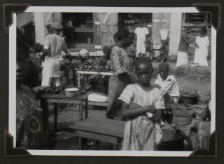 """[Collection of Four Albums with Over 700 Original Gelatin Silver Photographs, and 17 Real Photo Postcards Taken and Collected During the Leipzig Zoo 1926-1927 Expedition to Northern Liberia; With a Large Chromo-lithographed Poster for the Documentary Film """"Durch unbekanntes Afrika"""" (""""Through Unknown Africa"""") about the Expedition]."""