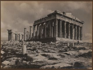 [Album with Forty-Two Original Gelatin Silver Photographs, Including Thirty-Seven Views of Istanbul and the Strait of Bosphorus (Including Eight Wide-angle Panoramas), and Five Views of the Acropolis in Athens].