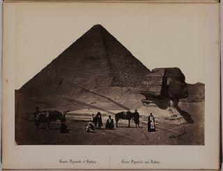 [Album from the Collection of Noted American Christian Missionary, Writer and Artist Henry John Van Lennep, with Thirty Original Albumen Photographs of Beirut, Jerusalem, Bethlehem, Nazareth, Damascus, Baalbek, and Ancient Sites of Egypt - the Great Pyramids and the Sphinx of Giza, Pompey's Pillar and Cleopatra's Needle in Alexandria, Karnak, Luxor, Ramesseum Temples, and the Philae Island Complex].