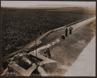 """[Album with Twenty-Four Original Gelatin Silver Photos Showing Newly Built Irrigation Canals and Stations of the German-Owned """"Upper Egypt Irrigation Company""""]."""