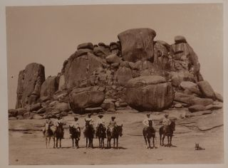 [Album with 230 Original Gelatin Silver Photographs, Including Over 180 Photos Showing German South-West Africa and the Events of the Herero and Namaqua Uprising: Swakopmund, Windhoek, Okahanja, Franzfontein, Okenyenya Mountain, Okawayo, Erongo Mountains, Spitzkoppe Mountain, German Military Camps and Posts, Drills, Portraits of Herero Leaders Samuel Mahaero and Hendrik Witbooi, the Family of a Herero Chief Zacharias Zeraua, An Executed Herero Man, German Military Officers, Herero Families, Children, etc.]