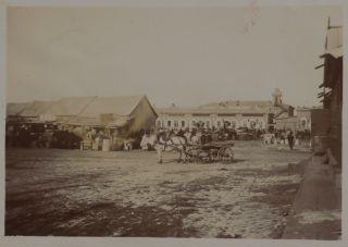 [Album of Ninety-Six Original Gelatin Silver Photographs of Blagoveshchensk on the Amur River, Showing Major Trading Houses and Shops on the Bolshaya Street, Girls' School, Cathedrals and Churches (Demolished in Soviet Time), the Triumphal Arch, Customs House and Steamers on the Amur River, Chinese Villages on the Other Bank, Chinese workers, Russian Peasants, and Others].
